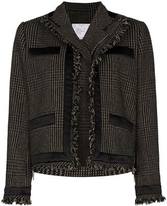 Sacai Layered Checked Jacket