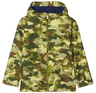 Hatley Dino Camo Microfiber Rain Jacket (Toddler/Little Kids/Big Kids) (Green) Boy's Clothing