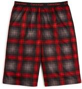 Calvin Klein Boys' Plaid Pajama Shorts - Sizes 5-16