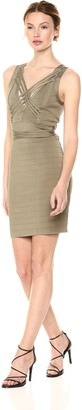 GUESS Women's Sleeveless Laced Ottoman Stitch Dress