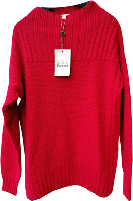 Barbour Red Cotton Knitwear