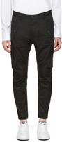 DSQUARED2 Black Military Glam Sexy Cargo Pants