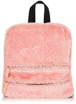 Skinnydip **molly pink fluff backpack