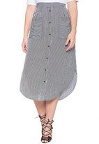 ELOQUII Plus Size Button Front Maxi Skirt