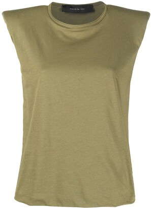 FEDERICA TOSI padded-shoulder sleeveless T-shirt