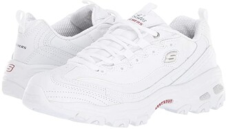 Skechers D'Lites - Fresh Start (White/Navy/Red) Women's Lace up casual Shoes
