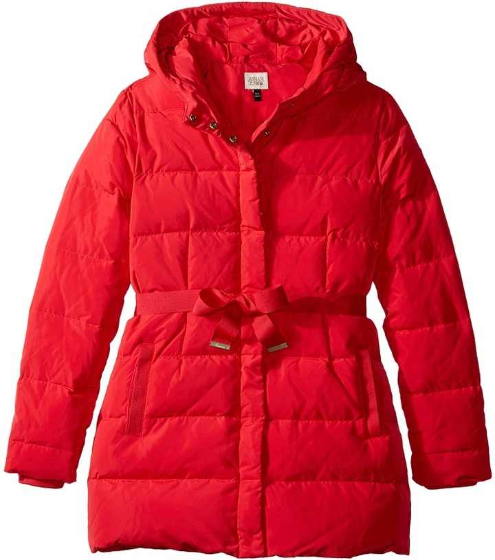 Armani Junior Puffer with Bow   Girl's Coat