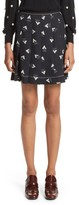 Marc Jacobs Women's Geo Print Satin Back Crepe Pleated Skirt