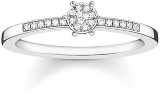 """Thomas Sabo Sparkling Circles"""" White Diamond Ring Size - M D_TR0022-725-14-52"""