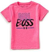 Under Armour Little Girls 2T-6X Girl Boss Short-Sleeve Tee
