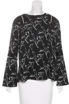 Thakoon Long Sleeve Lace-Accented Top