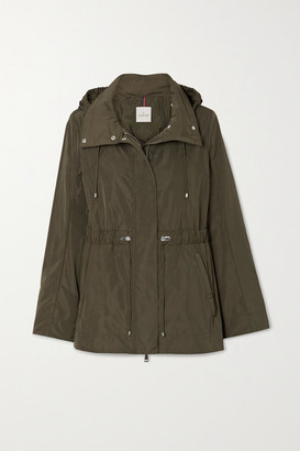 Moncler Hooded Shell Parka - Army green