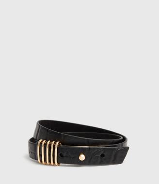 AllSaints Eden Leather Wrap Bracelet