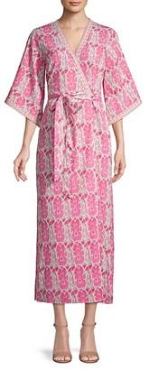 Alexia Admor Printed Kimono Maxi Wrap Dress