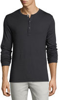 Theory Anemone Snap-Front Henley T-Shirt