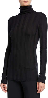 Derek Lam Inez Cashmere-Silk Turtleneck Sweater