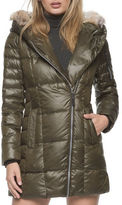 Marc New York Lexi Quilted Down Jacket with Coyote Fur Hood