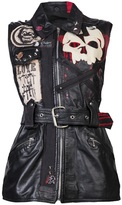Red Mutha Patched jacket vest