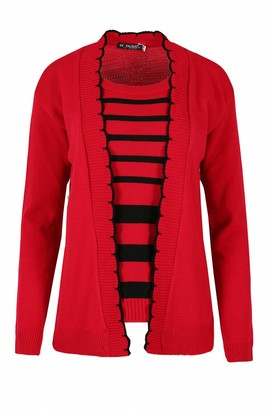 Fashion Star Long Sleeves Open Front Knitted Casual Party Jumper Sweater Stripes Twin Cardigan Top