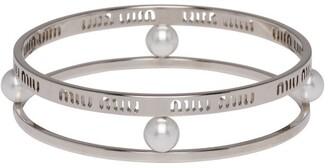 Miu Miu Logo Double Bangle Bracelet