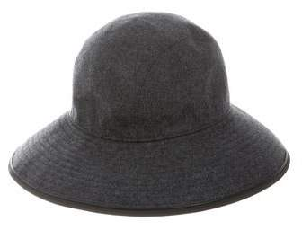 b61b17950059 Leather Wide Brim Hat - ShopStyle