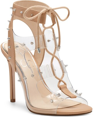 Jessica Simpson Jirven Spike Clear Strap Cage Sandal