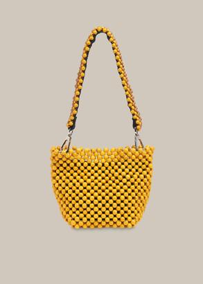 Martha Mini Beaded Bucket Bag