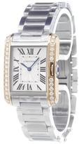 Cartier 'Tank Anglaise' analog watch
