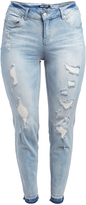 Dollhouse Snowy Blue Distressed Skinny Jeans - Plus