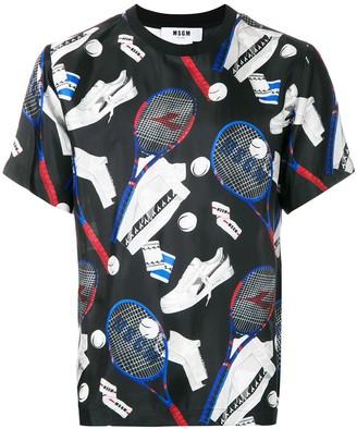MSGM tennis print T-shirt