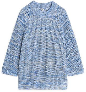 Arket Melange Cotton Knitted Jumper