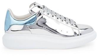 Alexander McQueen Men's Oversized Metallic Platform Sneakers