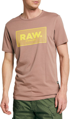 G Star Men's Raw Boxed Logo T-Shirt