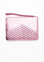Other Stories Quilted Leather Clutch