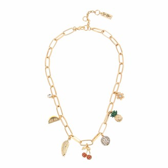Jessica Simpson Mixed Fruit Charm Necklace