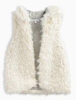 Splendid Little Girl Reversible Hooded Fur Vest