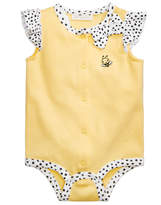 First Impressions Dot-Print Cotton Bee Creeper, Baby Girls, Created for Macy's