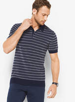 Michael Kors Striped Cotton Polo Sweater