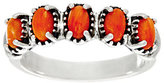 American West Sterling Silver 5 Stone Gemstone Band Ring
