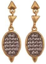 Freida Rothman Contemporary Deco CZ Marquee Drop Earrings