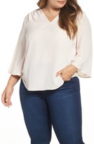 Melissa McCarthy Plus Size Women's Bell Sleeve Blouse