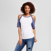 Grayson Threads Women's Cold Shoulder Raglan T-Shirt Top - Grayson Threads (Juniors')
