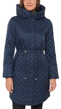 Kate Spade Hooded Quilted Anorak Coat