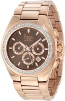 Freelook Unisex HA5303RGM-2X Aquamarina II All Rose Gold Plated with Chronograph Dial and Swarovski Bezel Watch