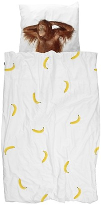 Snurk Banana Monkey Quilt Set Single
