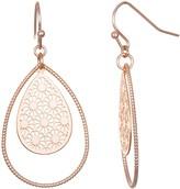 Lauren Conrad Orbital Filigree Teardrop Nickel Free Drop Earrings