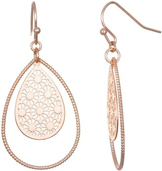Lauren Conrad Orbital Filigree Teardrop Nickel Free Drop Earrings
