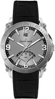 Pierre Petit Men's P-806A Serie Le Mans Dual-Time GMT Sunray Dial Leather Watch