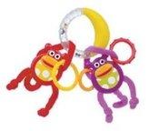 Sassy Monkeys Swing On Banana Ring By