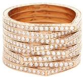 Repossi Antifer 18kt Rose Gold Ring With White Diamonds